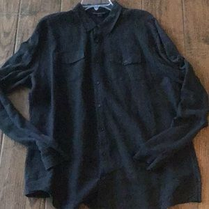 EUC John Varvatos ✌️Black Linen Shirt